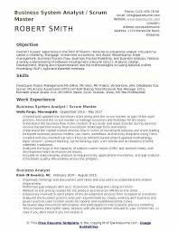 Master Resume Sample Business System Analyst Scrum Master Resume