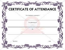 Attendance Award Template Best Photos Of Certificate Of Attendance Template