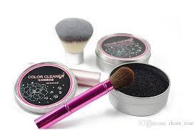 makeup brush cleaning wash artifact dry sponge color change cleaner mat washing hand pad er scrubber board cosmetics clean tool iron box makeup brush