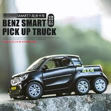 TY 1:32. Benz smart Pickup trucks Ternary alloy smelting car model ...