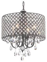afaura antique black round drum shade 4 light crystal chandelier have to do with drum