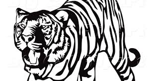 running tiger clipart black and white. And Running Tiger Clipart Black White