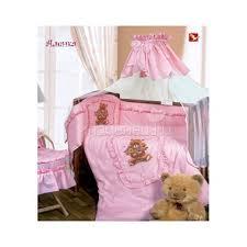 <b>Комплект</b> в кроватку <b>Золотой Гусь</b> Аленка 3 предмета Розовый ...