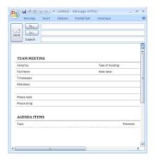 Outlook Meeting Agenda Template Staff Meeting Agenda Template