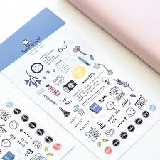 walking journal diy colorful walking stick kawaii stickers diary planner journal