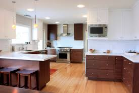 Dark Brown Kitchen Cabinets Agreeable Dark Brown Color Walnut Kitchen Cabinets Features Double