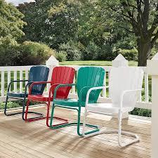 retro patio furniture metal glider