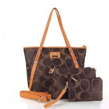 Coach Totes In Signature Three In Set Coffee