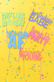 Printable Cake Toppers For Birthdays Free Svg Templates Diy