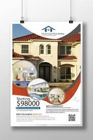 Real Estate Information Poster Leaflets Template Psd Free