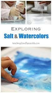 preschool art table. Salt And Watercolor Art - A Fun Science Activity At The Table For Preschoolers! Preschool I