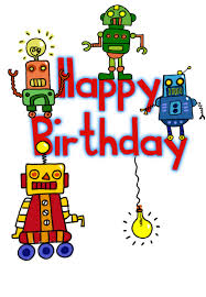 free childrens birthday cards happy birthday robots free birthday card greetings island
