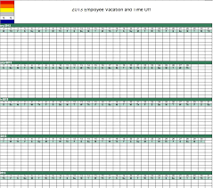 Calendar 2013 Template 2013 Employee Vacation Tracking Calendar Template