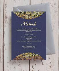 Navy Blue Gold Mehndi Baraat Card From 0 85 Each