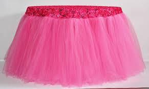 how to make tutu table skirt for tutu table skirt pink
