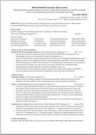Mental Health Counselor Resume Objective Template Counseling