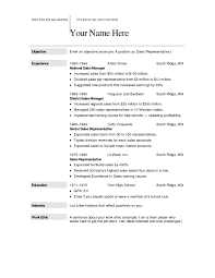 Free Online Blank Resume Template Sample Resume Cover Letter Format