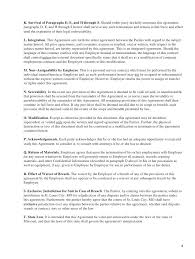 Agreement Letters Impressive 48 Employment Agreement Templates Sample Letter At Will Template