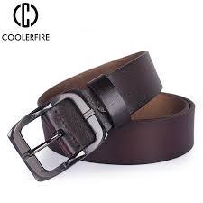 <b>COOLERFIRE cow genuine</b> leather belt for men high quality vintage ...