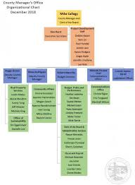 County Managers Office Organizational Chart County
