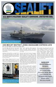 Military Sealift Command Pay Chart 2018 Sealift May 2018 By Military Sealift Command Issuu