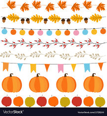 Fall Garlands With Lights Set Of Cute Autumn Fall Garlands With Lights