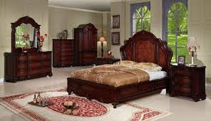 Elegant Bedroom Design Ideas with Wood Carving bedroom Furniture Set