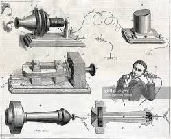「On March 7, 1876 – Alexander Graham Bell is granted a patent for a new invention called the 'telephone,'」の画像検索結果