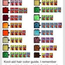 Kool Chart Koolaidflavoraid Dye Chart How To Make Doll Hair Kool Kool