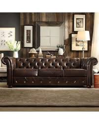 brown tufted sofa. Brilliant Tufted HomeVance Vanderbilt Chesterfield Button Tufted Sofa Brown Inside Sofa T
