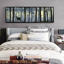 2018 large wall art elk canvas paintings scenery paintings animal art print for bedroom home wall decor modern style design from happyfamilyalike  on large wall art for bedroom with 2018 large wall art elk canvas paintings scenery paintings animal
