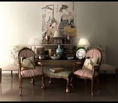 Decorations:Classic Living Room Decor Asian Inspired Designs Striped Chairs  Asian Interior Decorating Ideas :
