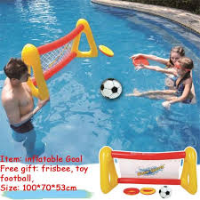 Giant Inflatable Goal Football Volleyball Swimming Pool Float Water