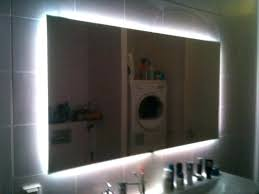 backlit mirror diy enchanting led mirror led mirror with anti fog elements led bathroom mirror