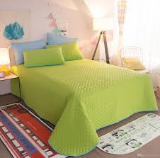 7 multicolors elegant korean cotton solid green color printing bedding sets single twin full queen king size bed cover sheet pillow shams tropical bedding