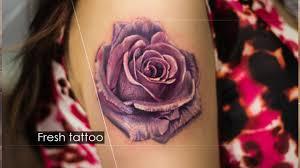 Fresh Rose Tattoo Realistic свежая татуировка роза в реализме алексей михайлов екатеринбург