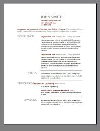 Gallery Of Word 2003 Resume Templates
