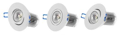 led bulbs for recessed lights 11 watt cob led recessed light fixture multifaceted lens tilted head