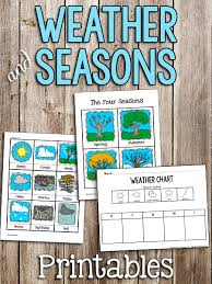 Weather Seasons Printable Cards Prekinders