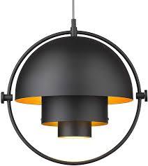 Matte Black Kitchen Pendant Light Industrial Metal Pendant Light Lms Adjustable Hanging Light Fixture Kitchen Pendant Lighting With Matte Black And Gold Hemispherical Lamp Shade