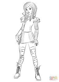 Mal Coloring Pages Mal From Descendants Coloring Page Free