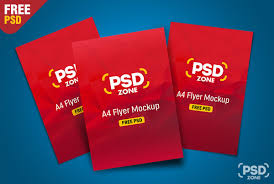 paper flyer multi flyer mockup psd download download psd