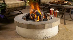 image of portable gas fire pit round