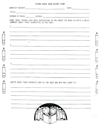 Book Report Templates Middle School Book Report Form Middle School Fiction Summer Nppa Co