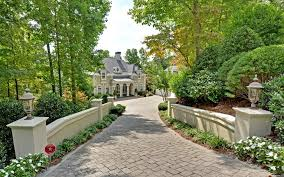Landscaping driveway entrance landscape rustic with gable roof custom homes  gable roof