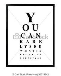 Humorous Eyetest Chart