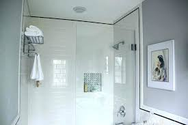 glass tile bathroom ideas shower stylish white subway large size contemporary
