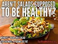 aren t salads supposed to be healthy