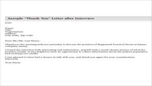 Interview Letters Samples Nursing Thank You Letter Sample 10 Examples In Word Pdf