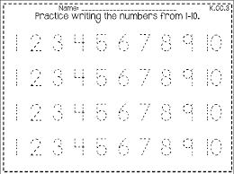 Free Tracing Numbers 1 10 Worksheets - Free Clipart